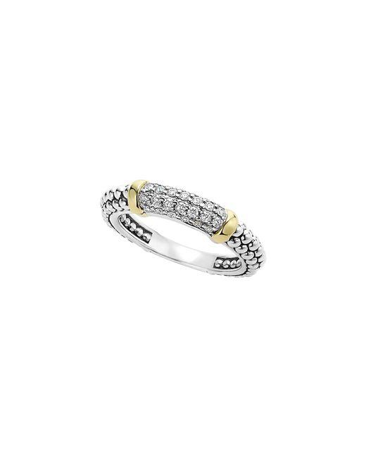 Lagos - Metallic 'caviar' Diamond Band Ring - Lyst