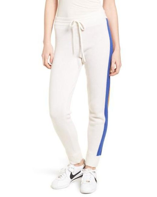 Juicy Couture - White Side Stripe Cashmere Track Pants - Lyst