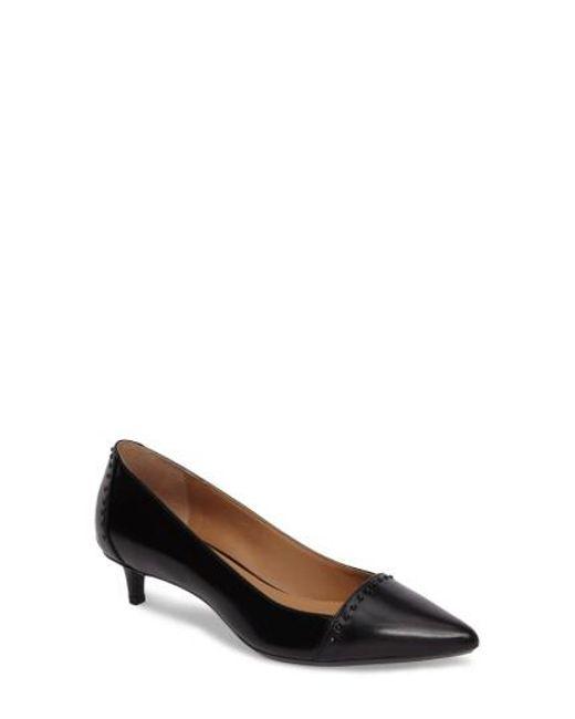 Calvin Klein | Black Griselda Studded Cap Toe Pump | Lyst