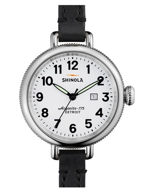 Shinola | Black 'the Birdy' Double Wrap Leather Strap Watch | Lyst