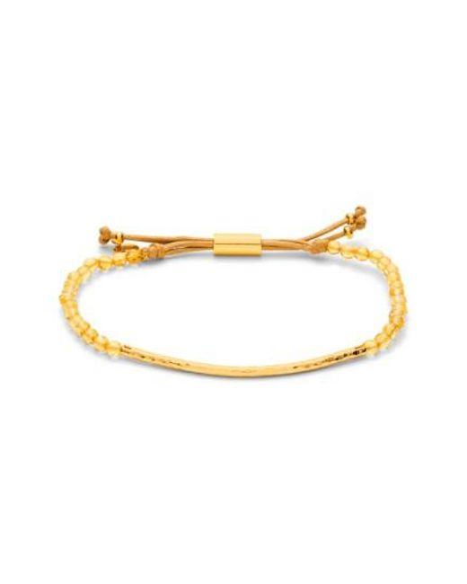 Gorjana   Metallic 'power Stone' Semiprecious Stone Bracelet - Citrine/ Gold   Lyst