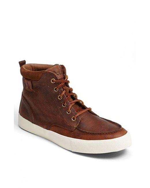 Polo Ralph Lauren | Brown 'tedd' Sneaker for Men | Lyst
