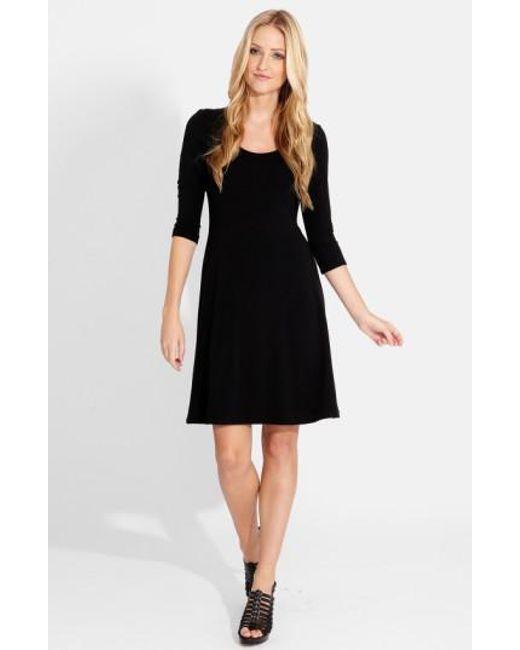 Karen Kane | Black A-line Jersey Dress | Lyst