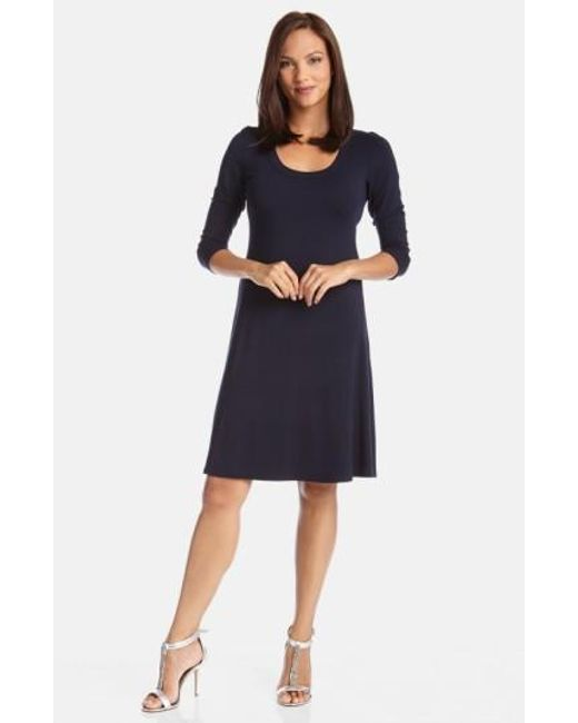 Karen Kane   Blue A-line Jersey Dress   Lyst