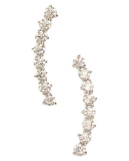 Nadri | Metallic 'salome' Cubic Zirconia Ear Crawlers | Lyst