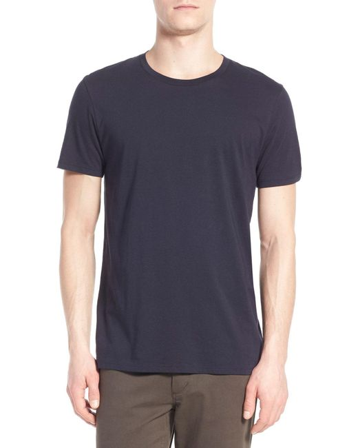 Vince - Blue Crewneck T-shirt for Men - Lyst