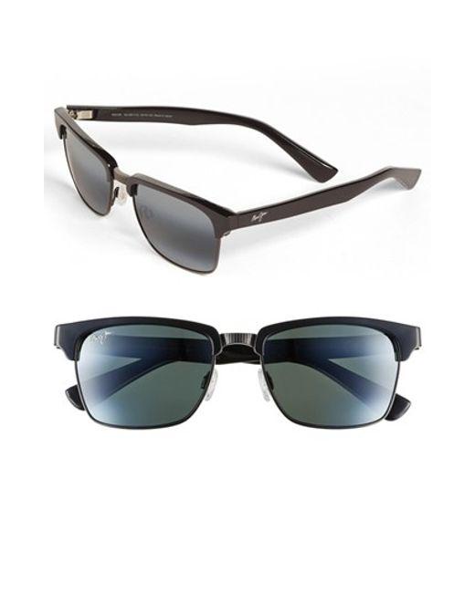 Maui Jim | Black 'kawika - Polarizedplus2' 54mm Sunglasses for Men | Lyst