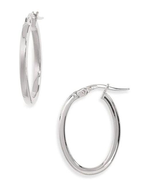 Roberto Coin - Metallic Medium Hoop Earrings - Lyst