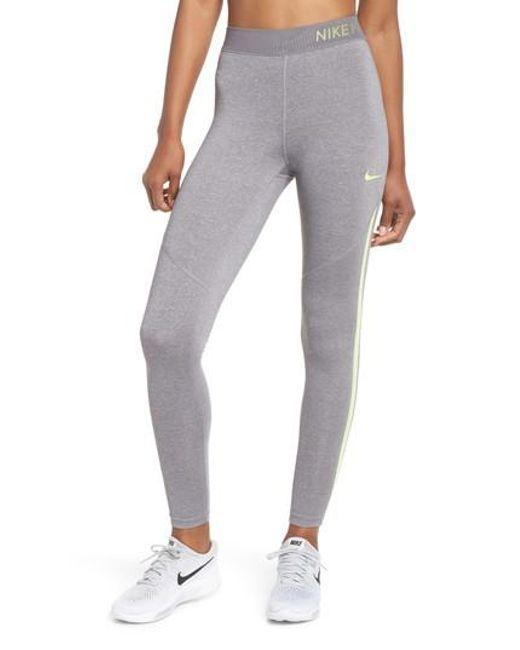 Nike - Gray Pro Hypercool Tights - Lyst