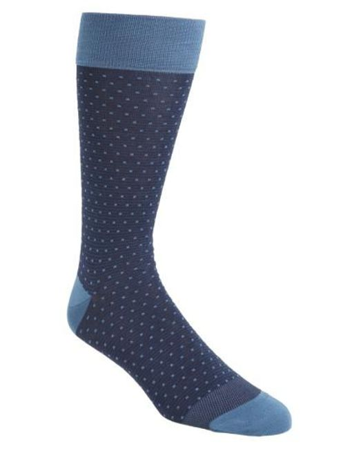 Calibrate | Blue Dot Socks for Men | Lyst