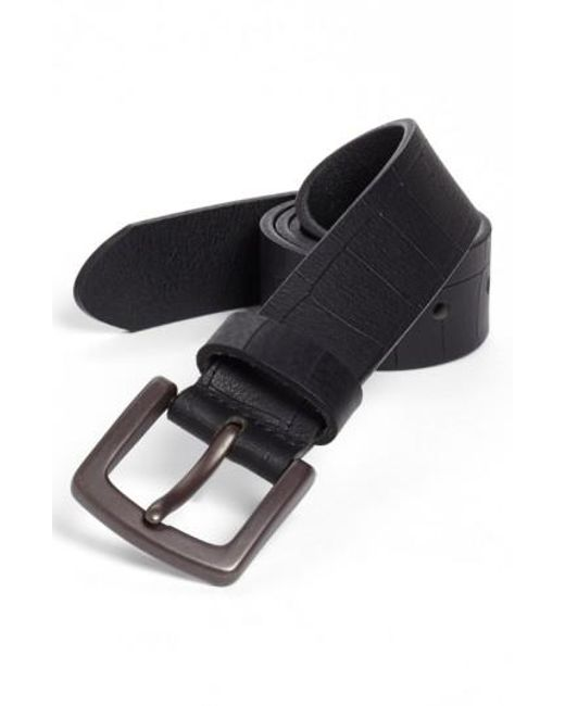 Bosca - Black Gator Embossed Belt for Men - Lyst