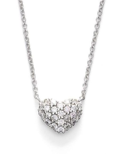 Bony Levy - Metallic Diamond Pave Heart Pendant Necklace (limited Edition) (nordstrom Exclusive) - Lyst