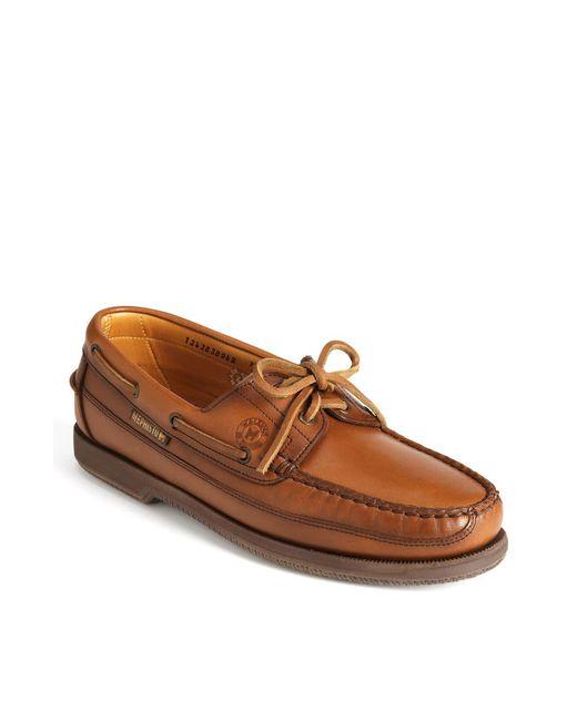 Mephisto Brown 'hurrikan' Boat Shoe for men