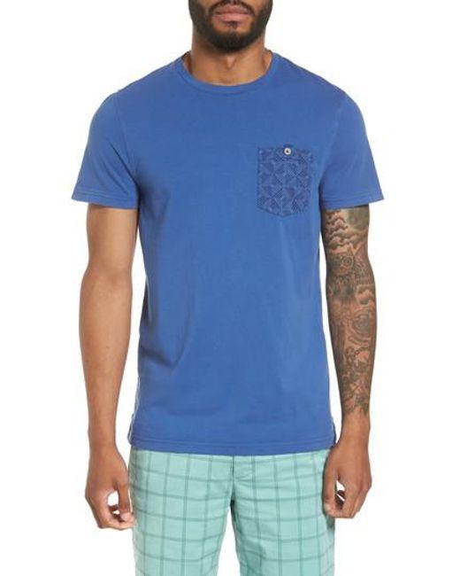 Ted Baker | Blue Bothy Modern Slim Fit T-shirt for Men | Lyst