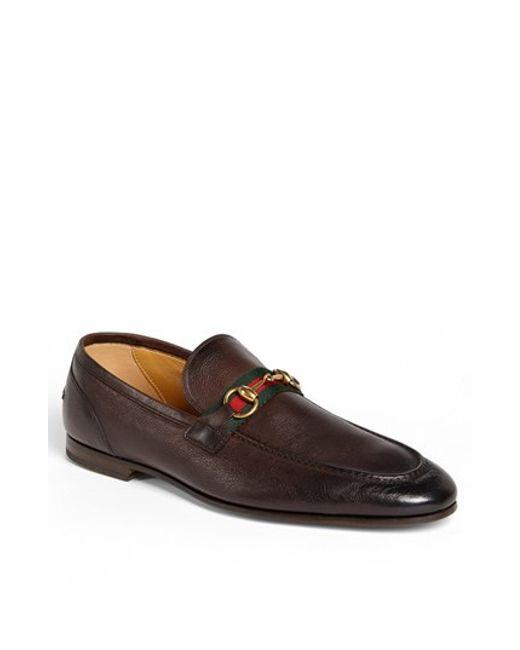 Gucci | Brown 'elanor' Bit Loafer for Men | Lyst