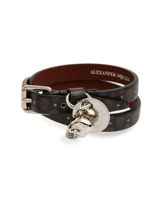 Alexander McQueen | Brown Double Wrap Bracelet for Men | Lyst