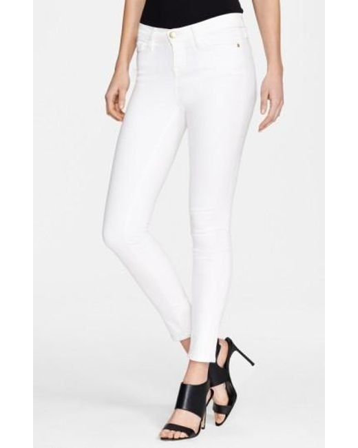 FRAME | White 'le Color' Skinny Jeans | Lyst