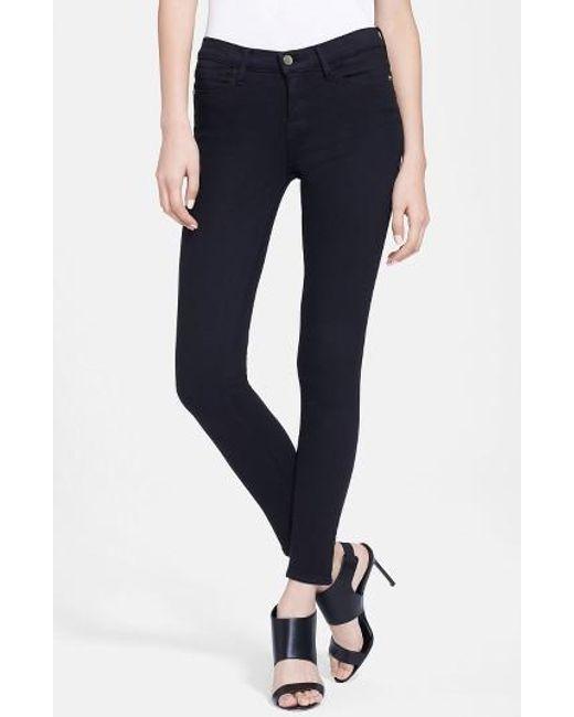 FRAME | Black 'le Color' Skinny Jeans | Lyst