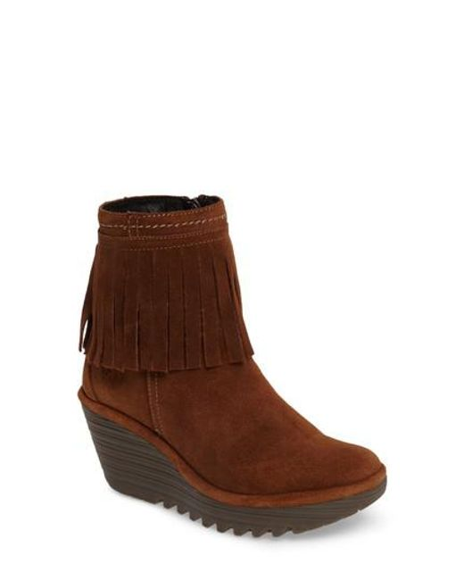 Fly London - Brown Yagi Fringe Boot - Lyst