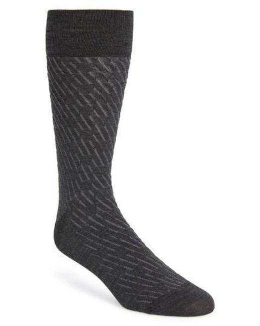 John W. Nordstrom - Gray John W. Nordstrom Stripe Socks for Men - Lyst