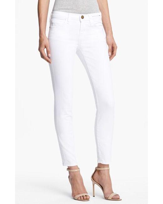 Current/Elliott | White 'the Stiletto' Jeans | Lyst