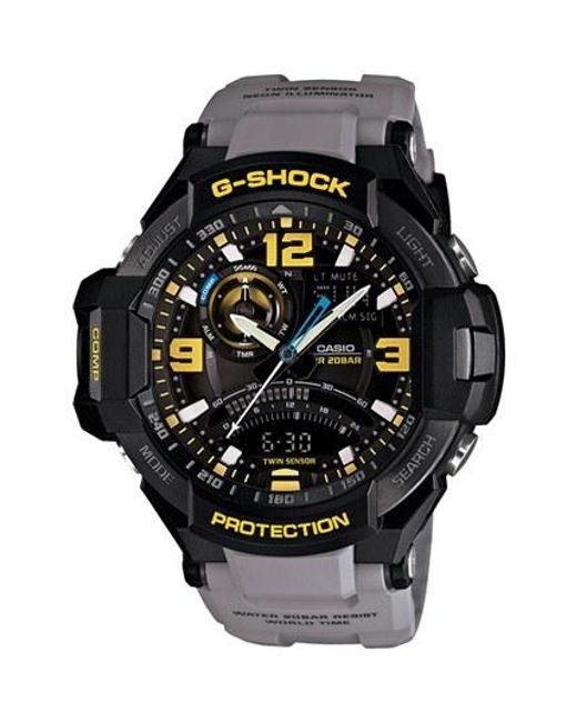 G-Shock | Gray 'aviation' Ana-digi Watch for Men | Lyst