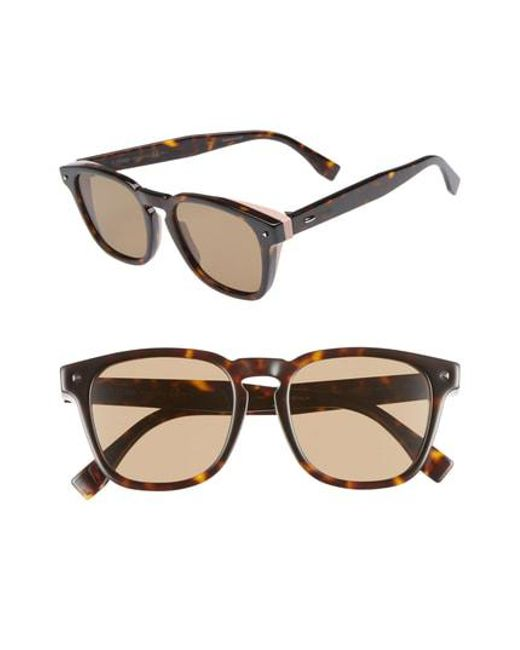 860e1d97859 Fendi - Multicolor 52mm Sunglasses - for Men - Lyst