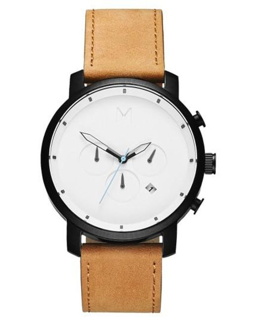 MVMT | Multicolor Chronograph Leather Strap Watch | Lyst