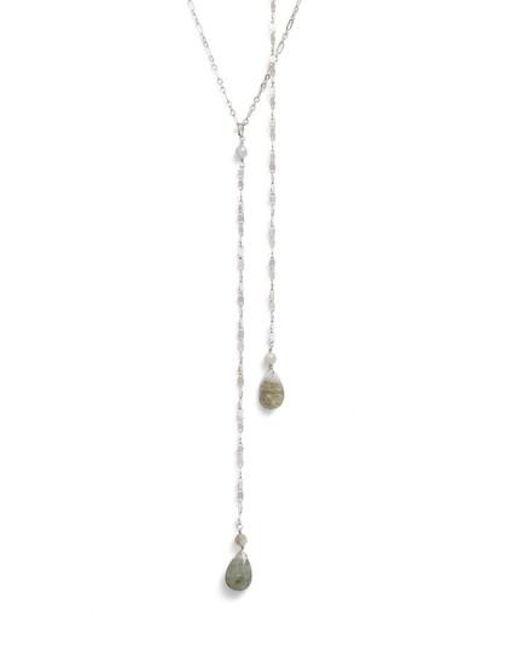 Serefina | Metallic Labradorite Y-necklace | Lyst