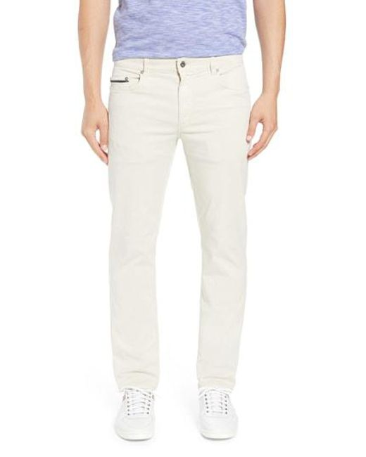Bugatchi - Natural Trim Fit Pants for Men - Lyst