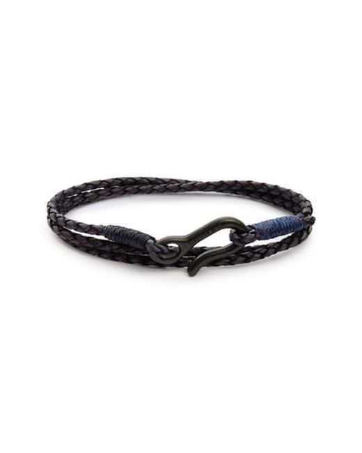 Caputo & Co. | Blue Leather Wrap Bracelet for Men | Lyst