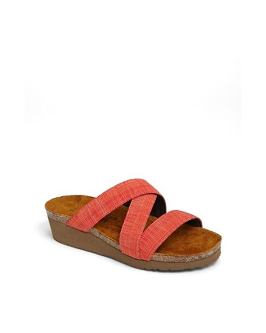 Naot | Orange 'naomi' Sandal | Lyst