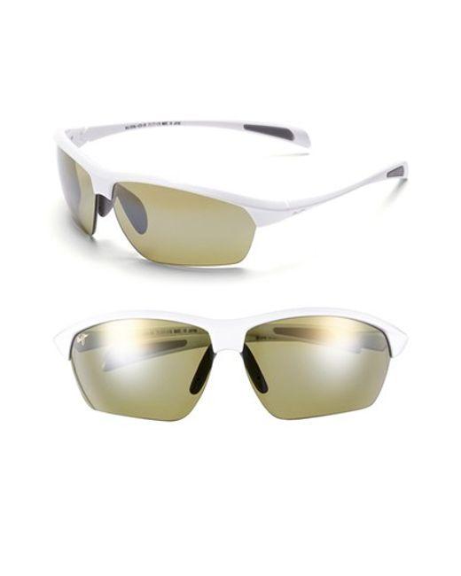 Maui Jim | White 'stone Crushers - Polarizedplus2' 71mm Sunglasses for Men | Lyst