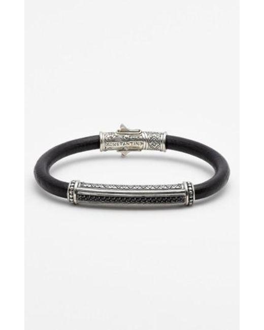 Konstantino | Metallic 'plato' Leather Bracelet | Lyst