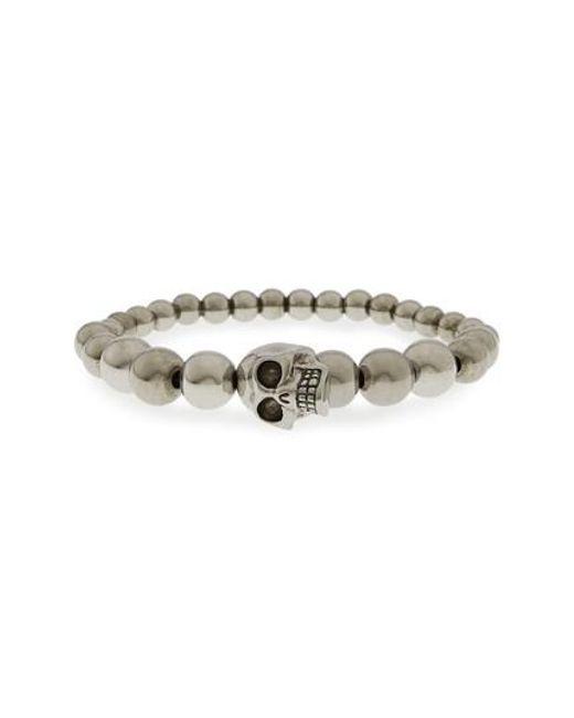 Alexander McQueen - Metallic Skull Ball Bracelet - Lyst