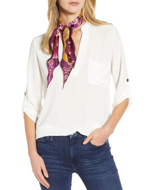 Echo - White Mumbai Floral Silk Diamond Scarf - Lyst