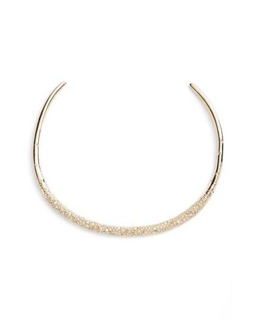 Alexis Bittar | Metallic Thin Encrusted Collar Necklace | Lyst