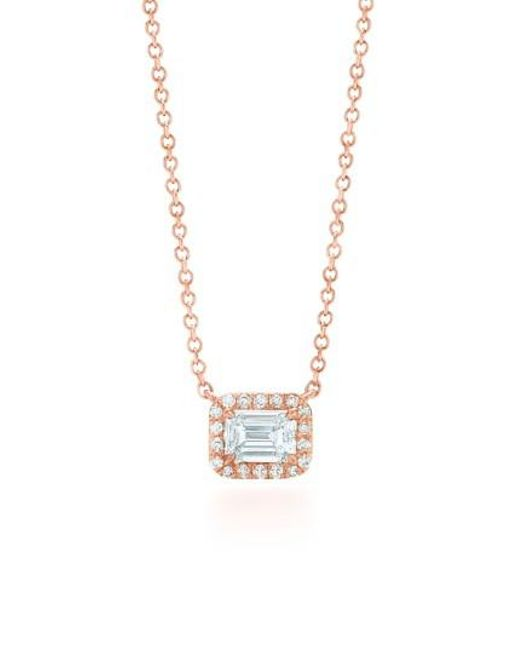 Kwiat | Metallic Emerald Cut Diamond Pendant Necklace | Lyst