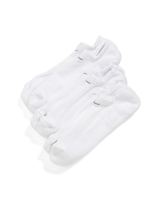 Nike | Dri-fit 3-pack Cushioned No-show Socks, White for Men | Lyst