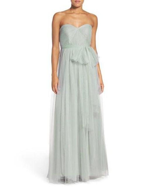 Jenny Yoo | Green 'Annabelle' Convertible Tulle Column Dress | Lyst