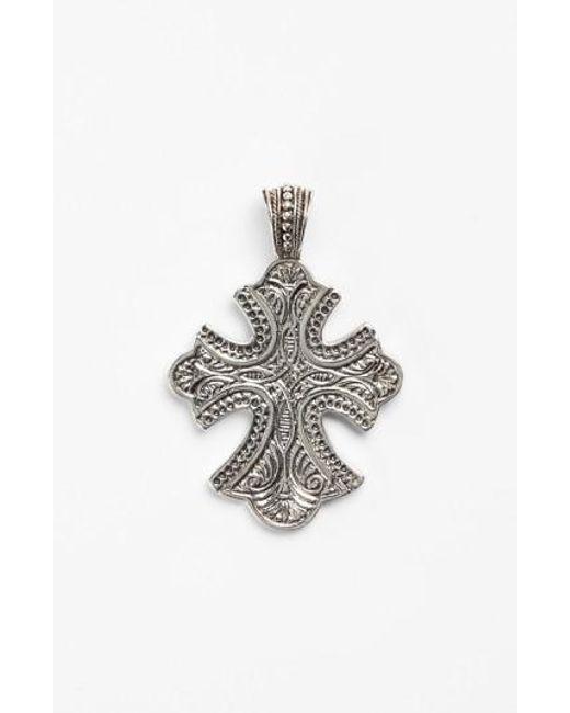 Konstantino | Metallic 'classics' Cross Pendant Necklace | Lyst