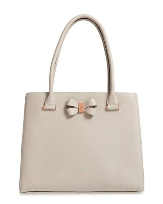 Ted Baker - Multicolor Callaa Bow Leather Shopper - Lyst