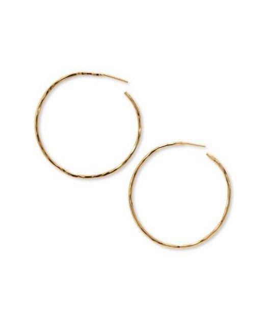 Argento Vivo - Metallic Hammered Large Hoop Earrings - Lyst