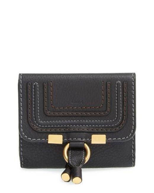 Chloé - Black 'marcie' French Wallet - Lyst