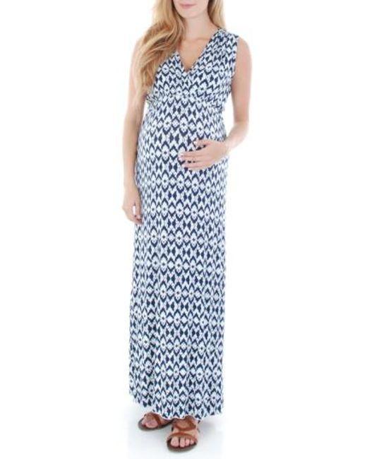 Everly Grey | Red 'jill' Maternity Maxi Dress | Lyst