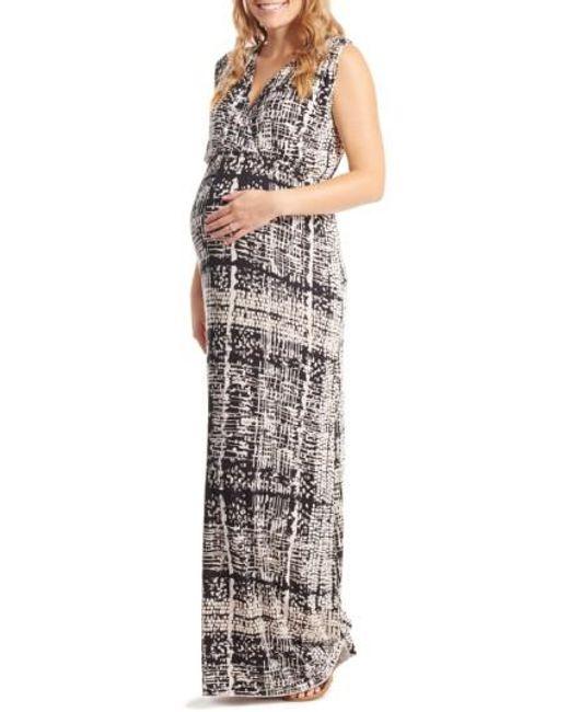 Everly Grey   Multicolor 'jill' Maternity Maxi Dress   Lyst