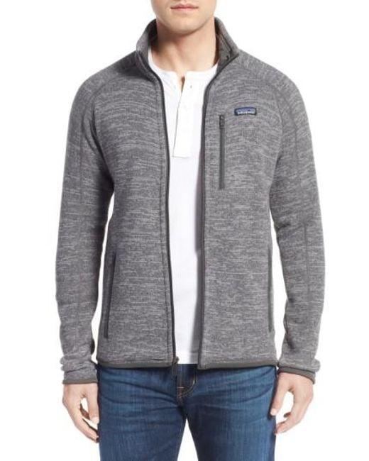 Patagonia | Metallic 'better Sweater' Zip Front Jacket for Men | Lyst