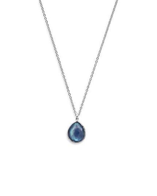Ippolita | Metallic 'wonderland' Mini Teardrop Pendant Necklace (online Only) | Lyst