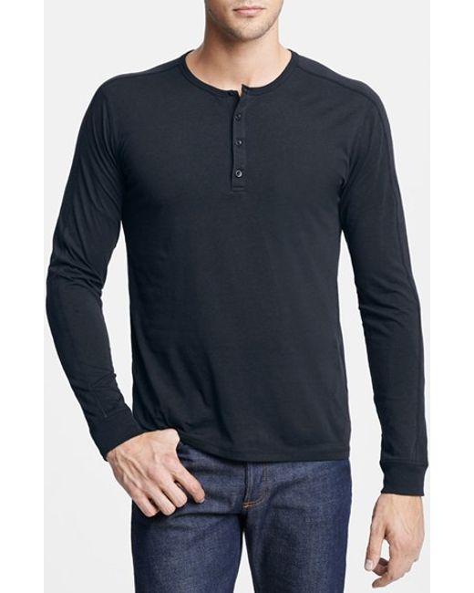 VINCE | White Long Sleeve Knit Henley for Men | Lyst