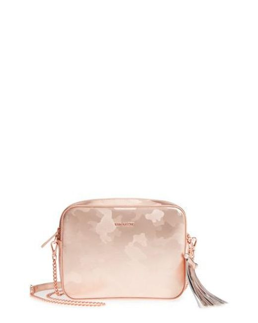 Ted Baker - Pink Camouflage Leather Camera Bag - Lyst